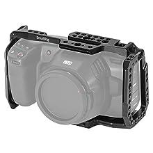 SMALLRIG Cage Käfig BMPCC 4K, 6K für Blackmagic Pocket Cinema Kamera 4K Cage mit NATO Rail- 2203B