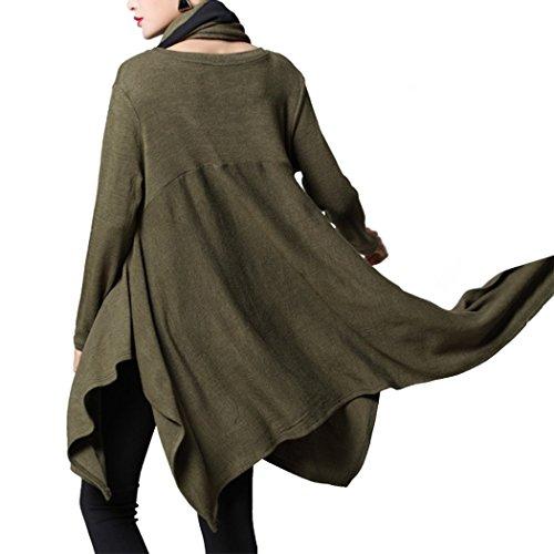 Xinnuod - Sweat-shirt - Femme vert militaire