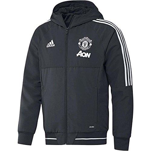 adidas Manchester United FC Pre Vestes Homme, Grey/Grinoc/Blanco, S