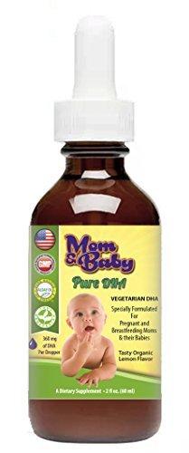 Mom & Baby Pure flüssiges pränatales DHA-Nahrungsergänzungsmittel für Mütter & Säuglinge - 60 Portionen - Leckerer Geschmack biologischer Zitronen