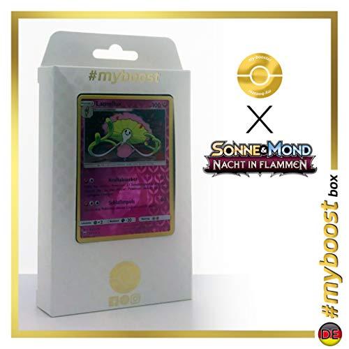 Lamellux (Shiinotic) 98/147 Holo Reverse - #myboost X Sonne & Mond 3 Nacht in Flammen - Box de 10 Cartas Pokémon Aleman