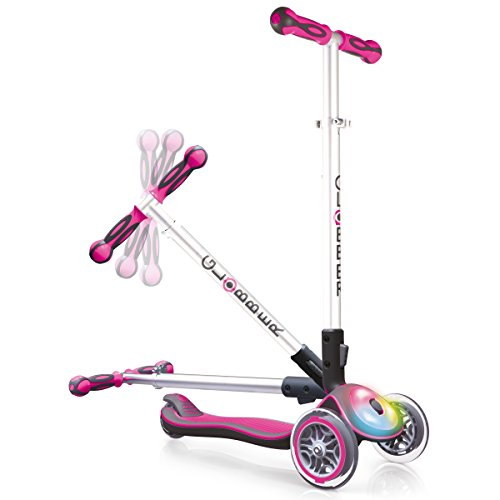 Globber Elite Scooter With Deck Lights - Deep Pink Best Price and Cheapest