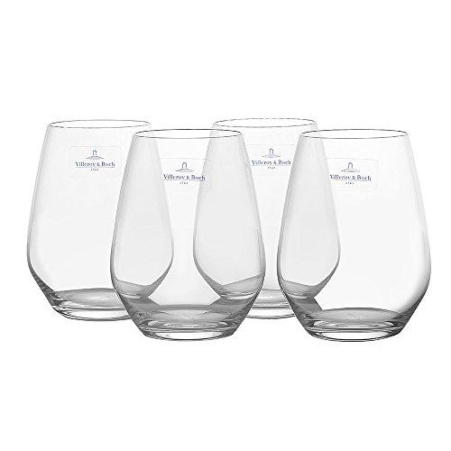Villeroy & Boch Ovid Wasserglas / Elegant geformte Gläser für Wasser, Saft und Softdrinks aus hochwertigem Kristallglas / 1 x Wassergläser Set (4-tlg.)