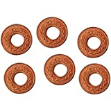 Ankita Gemstones Set Of 6 Pcs Copper Coin With Hole, Copper Coin With Hole