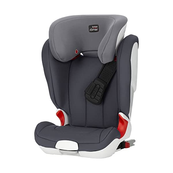 Britax Römer car seat Kidfix XP (SICT) Group 2/3. Britax Römer Front impact pad - XP, storm gray Shockproof side protection - MTS Codes High back for shock absorbing side protection and correct strap guide 43