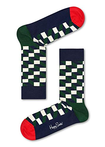 Happy Socks Herren Socken Filled Optic, 6er Pack, (Zartes Grün 7002), One Size (Herstellergröße: ()