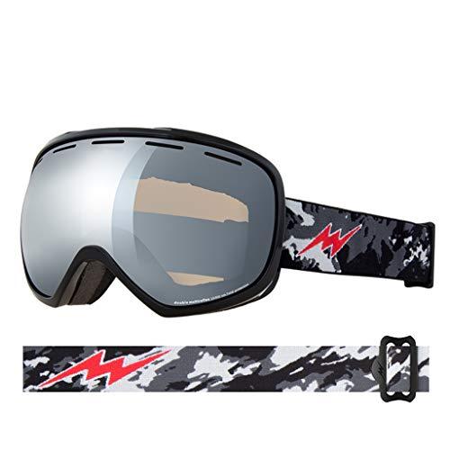 Skibrille große Feld sphärische Ski Brille doppelte Anti-Fog Skibrille Kokain Myopie (Farbe : C)