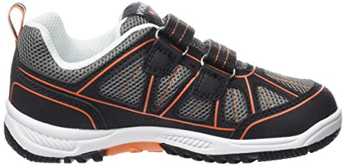 Viking Hugin Unisex-Kinder Low-Top Schwarz (Black/Orange 231)