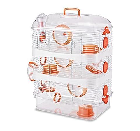 Hamster Russe - Cage Super ratatouille 3 étages - coloris