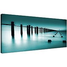 Wallfillers® 1089 Lienzo con impresión fotográfica, paisaje contemporáneo, paisaje marítimo
