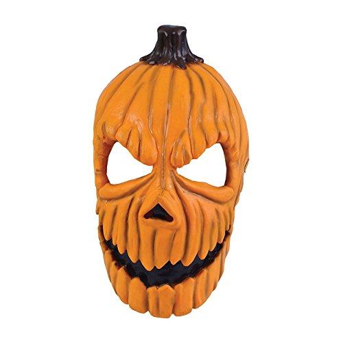 Bristol BM397 - Pumpkin Kürbis Maske Kürbiskopf Gesichtsmaske, Einheitsgröße Erwachsene, Mehrfarbig