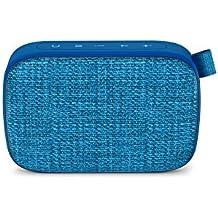 Energy Fabric Box 1+ Pocket Blueberry - Altavoz portátil (TWS, Bluetooth v5.0, 3W, USB & microSD MP3, FM Radio, Audio-In), Color Azul (Blueberry)