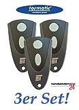 3 x Tormatic Novoferm Handsender MAX43-2 als Set - Funk Fernbedienung 433 MHz Novotron 502 als 3er-Set