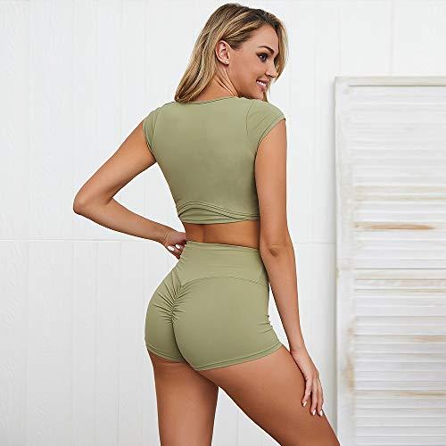 Frauen Yoga Gym Tragen Sets, Frauen Crop Top Und Beute Shorts Sets Für Fitness Und Sport (Beute-shorts Für Frauen)