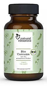 Bio Curcuma (Kurkuma) - Einführungspreis - 180 vegane Kapseln mit Bio schwarzem Pfeffer und Piperin – Ohne unerwünschte Zusätze wie Magnesiumstearat, Gelatine - Hochdosiert und hergestellt in Deutschland