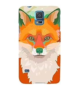 Orange Fox 3D Hard Polycarbonate Designer Back Case Cover for Samsung Galaxy S5 :: Samsung Galaxy S5 G900I :: Samsung Galaxy S5 G900A G900F G900i G900M G900T G900W8 G900k