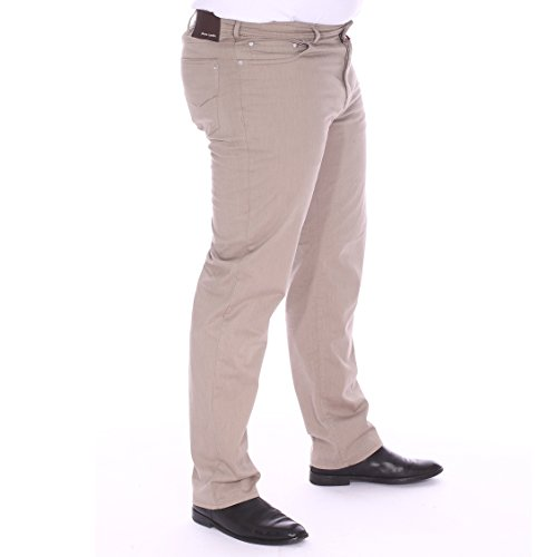 Pierre Cardin Pantalon grande taille homme Marron Marron
