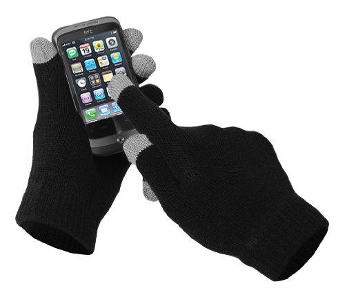 Damen schwarzen gestrickten Touch Screen Handschuhe