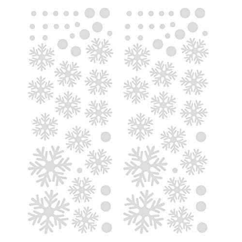 MMLsure  ® Fensteraufkleber Weihnachten Weiß,Schneeflocke Glasaufkleber Weihnachten Winter Fenstersticker Fensterdeko, Wandtattoo Fensterbild, 20×45cm (Weiß)