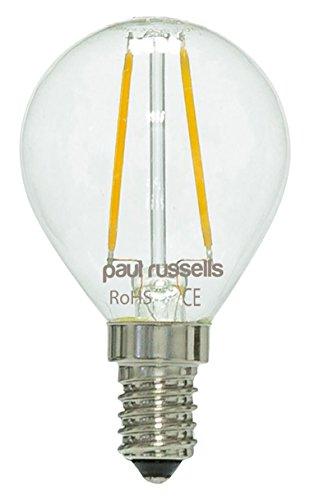 6x Vintage Style Kleine Edison-Schraube LED Filament 4W Klar Antik Golf Light Dekorieren Home G45Kleine runde Globe 360Abstrahlwinkel Lampe E14SES 2700K warm weiß 40W Glühlampe Ersatz [6Stück Leuchtmittel]
