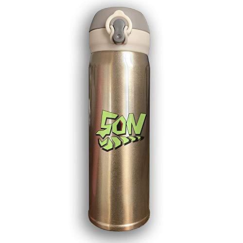 LZHANDA Thermosflasche,Vakuumisolierte Trinkflasche,Wasserflasche, Bounce Cover Designed Son Graffiti,Leak-Proof Vaccum Cup,Travel Mug with Stainless Water Bottle,Sports Drinking Bottle Fashion -