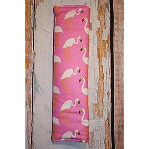Auto Gurtpolster für Kinder und Erwachsene rosa mit weißen Flamingos Vogel Tier