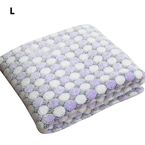 Wovemster Premium Selbstheizende Decke für Katzen & Hunde,Innovative & Umweltfreundliche Wärmematte,L (Violetter Punkt)