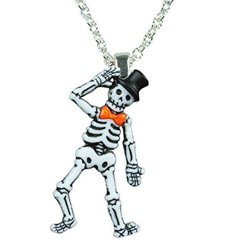 Top Hat Skelett Anhänger Halskette-Geschenk-Box erhältlich ()
