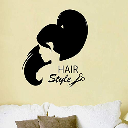 Hairstyle Hair Salon Wall Sticker Home Decor Living Room Bedroom Decoration Wall Art Murals Wallp  69cmx59cm -