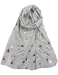 NEW Sketched Look Beagle Dog Print Oversized Shawl Sarong Scarf 5 Colours