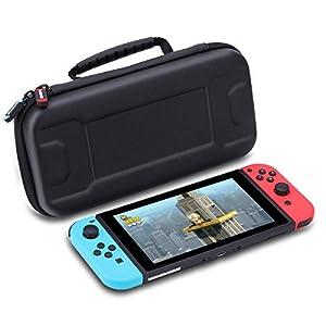 Tasche für Nintendo Switch, AWANFI Schutzhülle Tragetasche Aufbewahrungstasche Für Nintendo Switch Zubehör(Schwarz)