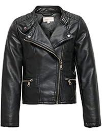 Only Konfreya Faux Leather Biker Otw Noos Chaqueta de Cuero sintético para Niñas