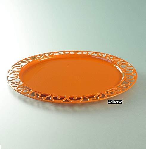 Adiserve 4 sous-Assiettes Ronde 30 cm Orange