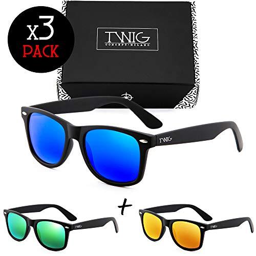 Drei Sonnenbrillen TWIG Pack WAY Verspiegelt Herren/Damen (Sport)