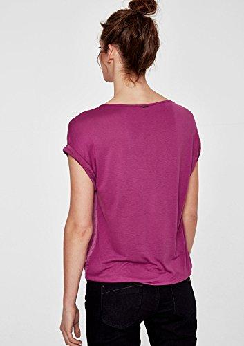 s.Oliver RED LABEL Damen Blusenshirt IM Fabric-Mix vivid magenta