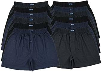 TOPANGEBOT 12 oder 6 Boxershorts farbig weich und locker in 3 neutralen Farben Original MioRalini Unterhose Short Boxer (M-5, 12 Stück)