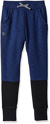 Under Armour Jungen Unstoppable Double Knit Jogger Hose, Royal Light Heather/Black (400), YMD
