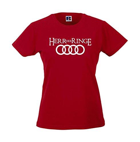 Girlie-Shirt - Herr der Ringe (L, Rot) (Der Ringe-t-shirts Lustig Herr)