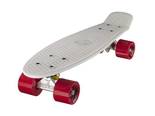 Ridge Skateboards Glow in the Dark Mini Cruiser Board Skateboard, komplett, 55cm -