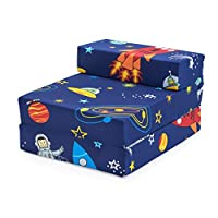 Ready Steady Bed Children Kids Fold Out Sleepover Z Bed Sofa | Toddler Single Folding Chair | Great for Playroom Bedroom Living Room | Lightweight & Comfy