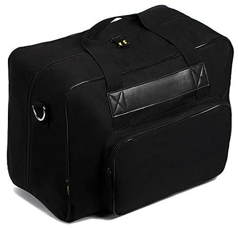 Kenley Tasche für Nähmaschine–Taschen-Transport mit Füllung–geeignet für Brother Singer Necchi–45x 25x 33cm–klassisch schwarz