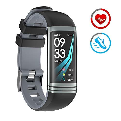 Fitness Armband Herzfrequenzmonitor Fitness Tracker mit Schrittzähler Kalorie Schlafüberwachung IP67 Wasserdicht Smart Watch Kompatibel mit Android und IOS