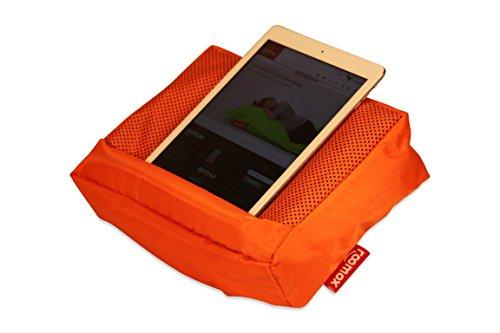 Roomox Kissen TOSH für Smartphone, eReader, Tablet-und iPad-Besitzer (Orange), Stoff, 28x6,5x21 cm