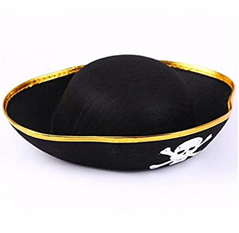 Costume Pirate Hat - edealing (TM) Fournitures Skull Halloween Crossbone Fancy