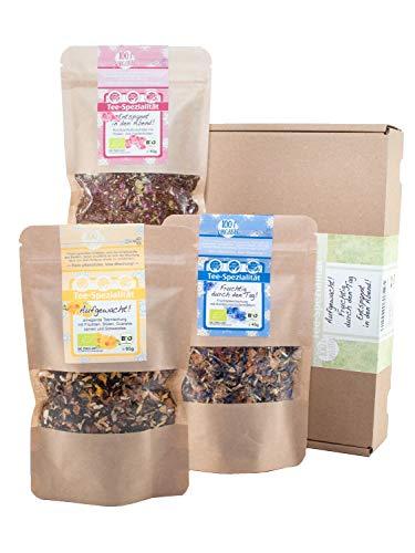 direct&friendly Bio Geschenkset und Probierset dreierlei Tee für morgens, mittags und abends -