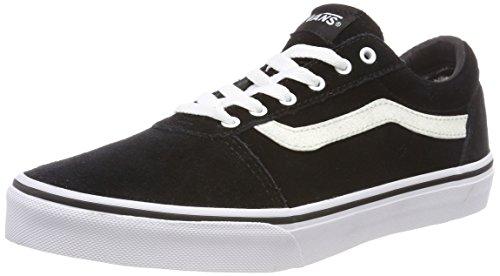 Vans Mädchen Ward Suede Sneaker, Schwarz ((Weatherized) Black/Glitter U3h), 31.5 EU
