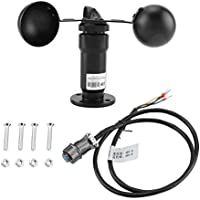 Cafopgrill Anemómetro de aleación de Aluminio RS485 Medidor de Velocidad del Viento con Salida de señal de Pulso para Invernadero, estación meteorológica, Muelle, Granja