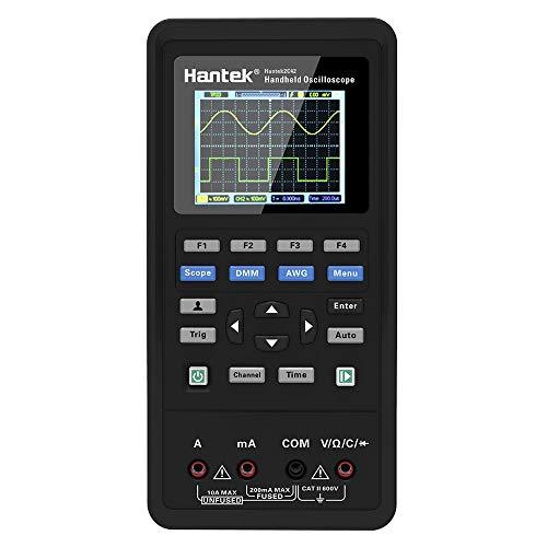 Walmeck Hantek 2-in-1-Digital Oszilloskop + Dual-Channel USB-Scopemeter Tragbares Scope-Meter 40 MHz / 70 MHz Bandbreite 250 ms/s Abtastrate 2C42 / 2C72 TFT LCD-Display Testmeter