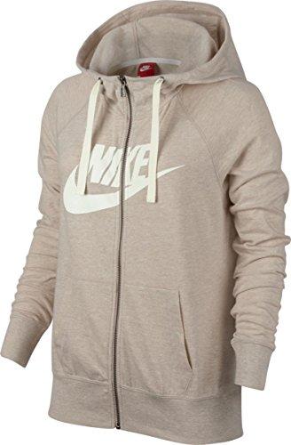 Nike W NSW Gym VNTG Hoodie FZ GX Sweatshirt für Damen Beige (Hafer / Segel)