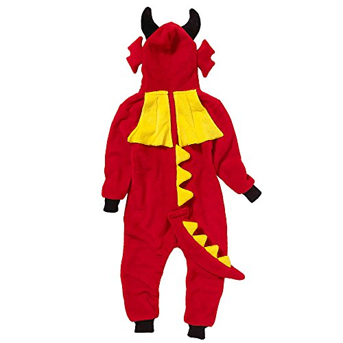 Onesies Animal Crazy Boys Supersoft Fleece Dinosaur Jumpsuit Playsuit